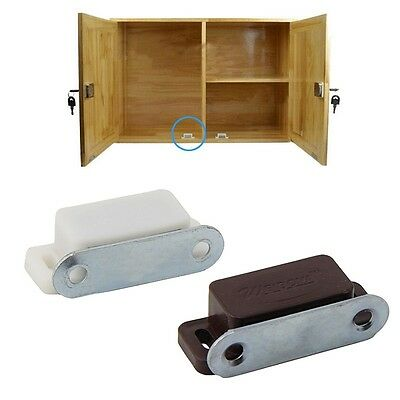 Small 10x Magnetic Door Kitchen Catches Cupboard Wardrobe Cabinet Latch Catch