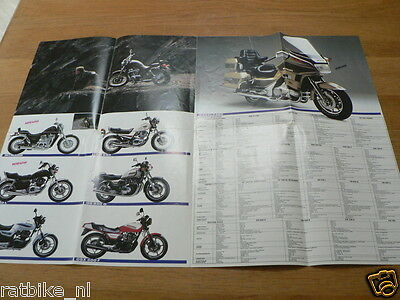 S231 Suzuki Poster Brochure All Models 1986 Dutch Dr500,Cs125,Lt230,Rg500,Rg250