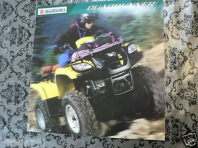 S258 Suzuki Brochure Quadrunner All Models English Language 16 Pages Is Folded