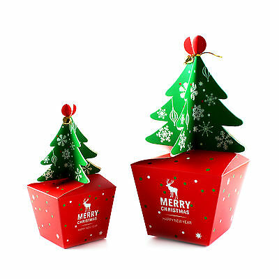 5PCS Xmas Christmas Gift Boxes Christmas Eve Apple Box Candy Boxes Party Boxes