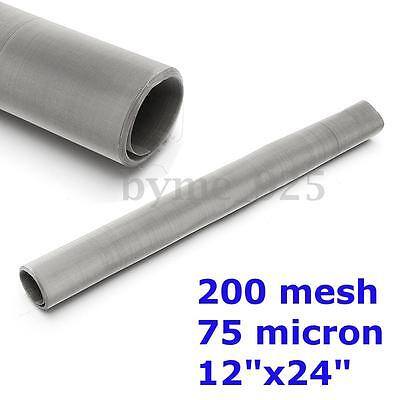 Stainless Steel Screen Dry Ice Pollen Screen Sheet 200 mesh 75 micron 12''x24''