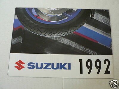 S294 Suzuki Poster Brochure R1100 And 2002 Models German 16 Pages Folded