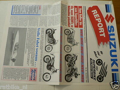 S297 Suzuki Brochure Report Nr 18 December 1991 German 16 Pages Folded Dr650R,vs