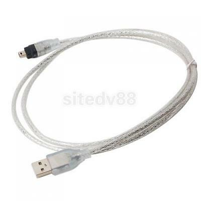 USB to IEEE 1394 4 Pin Firewire i-Link DV Travel Cable Lead PC New