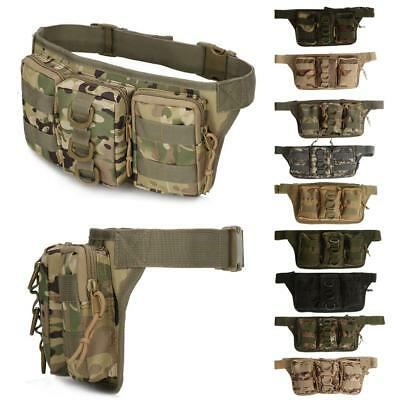 Tactical Molle Pouch Belt Waist Fanny Pack Cycling Hiking Military Bag Pocket