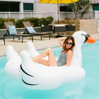Giant Inflatable Swan Flamingo Pool Toy | Swimming Floating Ride On Float Toy