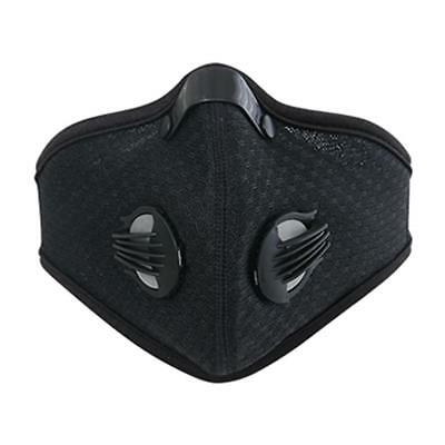 New Unisex Dust Proof Cycling Face Mask Carbon Fitness Training Mask - Black