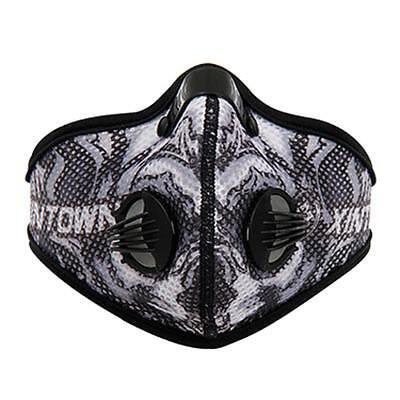 Anti Dust Cycling Bicycle Bike Motorcycle Racing Half Face Mask Filter Gray