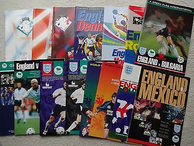 A selection of England programmes from the mid 90's to include 1996 Bulgaria!!!