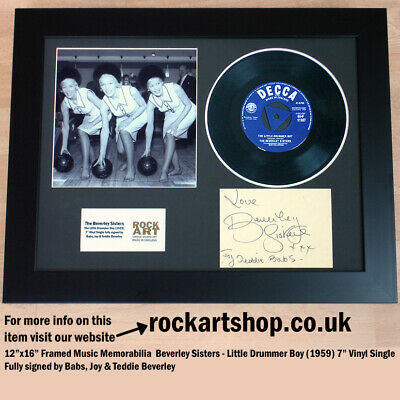 "BEVERLEY SISTERS Little Drummer Boy *SIGNED BY ALL 3* 7"" Vinyl Autographed WORLD"