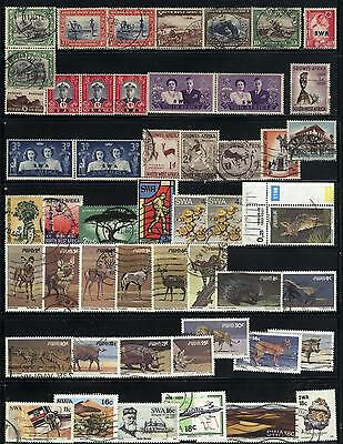South West Africa -50 stamps mixed - years 1931 to 1989