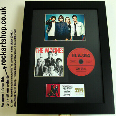 The Vaccines FULLY SIGNED Come of Age CD Autographed Framed *WORLD SHIP