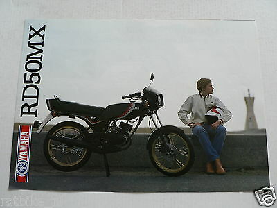 Y166 Yamaha Brochure Rd50Mx Dutch 4 Pages Bromfiets,moped,mofa