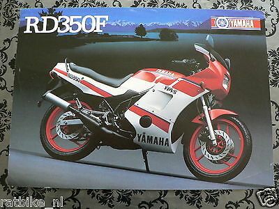 Y174 Yamaha Brochure Rd350F 1986 ? English 2 Pages ,is Little Damaged