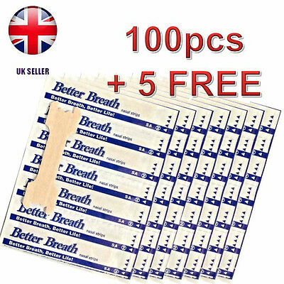 Nasal Strips Better Breath SMALL OR LARGE Right Aid to STOP SNORING 100 + 5 FREE