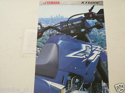 Y245 Yamaha Brochure Xt600E Motorcycle Dutch 4 Pages 2000 ? Not 100 % Ok