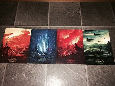 Star Wars The Force Awakens Imax Posters 1-4