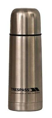 Trespass Thirst 35 X 350 Ml Stainless Steel Flask 0.35 Liters Silver Termos