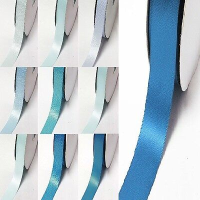 "YAMA Double Faced Satin Ribbon 3/4"" /19mm. 100 Yards/ Roll ,Blue s #352 to #374"