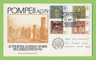GB 1976 Christmas set on RAA Official First Day Cover PompExh Cancel