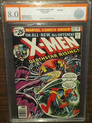 Uncanny X-Men #99 Egc Graded ( 8.0 ) Off White To White Pages Euro Grader
