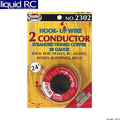 Model Power 2302 2 Conductor Wire Carded (28 Gauge) 24