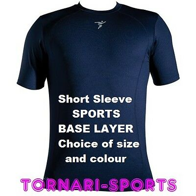 Base Layer Short Sleeve Under Shirt Precision Training Compression Fit Sports