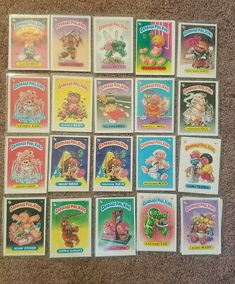Vintage Lot 20 Different 1985  Series 1 Garbage Pail Kids Cards Blasted Billy