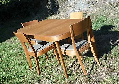 Vintage Mid Century Modern Heywood Wakefield Junior Dining Set Table & 4 Chairs