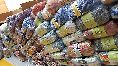 JOB LOT WOOL new ASSORTED COLOURS hand knitting wool YARN MEGGA DEAL500 BALL ,,