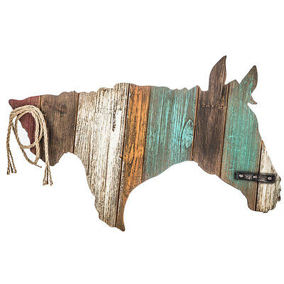 Rustic Ranch Country Decor  Colorful Horse Head Wood Wall Decor  NO SALES TAX
