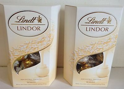 LINDT LINDOR WHITE CHOCOLATE CORNET 2 boxes CHRISTMAS GIFTS
