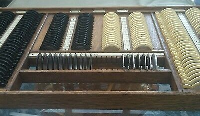 Antique Spectacle Lenses Opticians Eye Testing - optometrist set.