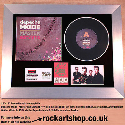 DEPECHE MODE Master and Servant VINYL *SIGNED BY 4 IN 1984* +DM LETTER Autograph