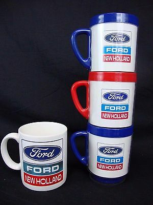 4 Ford New Holland Let's Build Together Employee Mugs Robert F Moglia Mug Cup