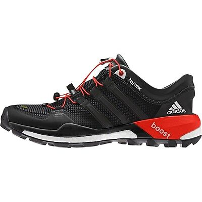 New Adidas Men's Shoes, Terrex Boost, Black/white/solar Red, M29067, Size 9