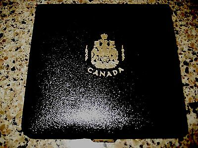 Canadian 1867-1967 7 Coin Black Leather Case