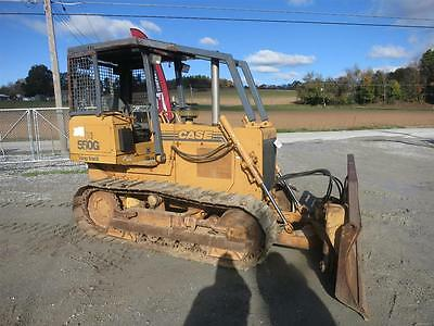 "Case 550G Long Track Dozer, Orops Sweeps,98"" 6 Way Blade, 75 Hp, 1550 Hours"