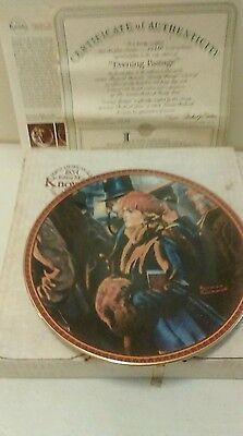 Edwin Knowles Treasured Memories series collector Plate Evening Passage