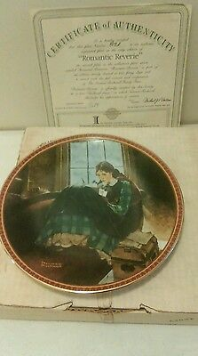 Edwin Knowles Treasured Memories series collector Plate Romantic Reverie