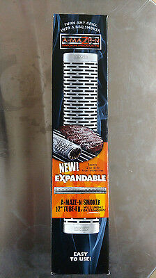 """A-MAZE-N OET 12"""" to 18"""" Expandable Oval Tube Wood Pellet Smoker Smoke Generator"""