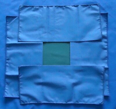 Set Of Four Working Cover Cloths - Lacemaker's Blue