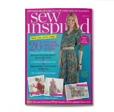 Sew Inspired Magazine - Issue 6 -  Free Gifts Worth £24 - Debbie Shore - New Out