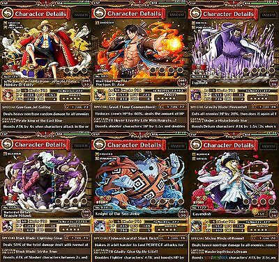 One Piece Treasure Cruise Global Multiple Legends New Accounts