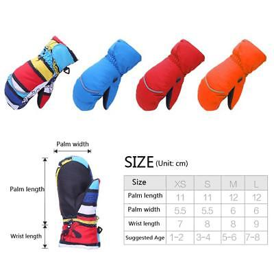 Winter Windproof Waterproof Ski Snow Mittens Gloves For Kids Children Boys Girls