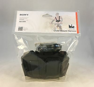 New Genuine Sony AKACMH1 Chest Mount Harness for Action Cam Black