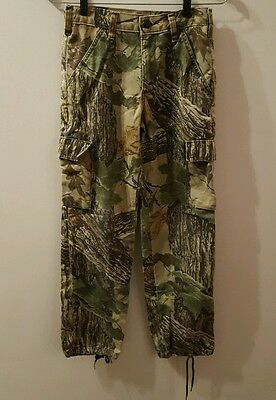 Liberty Realtree Forest Hunting Camouflage Youth Boys Pants Size Large 14-16