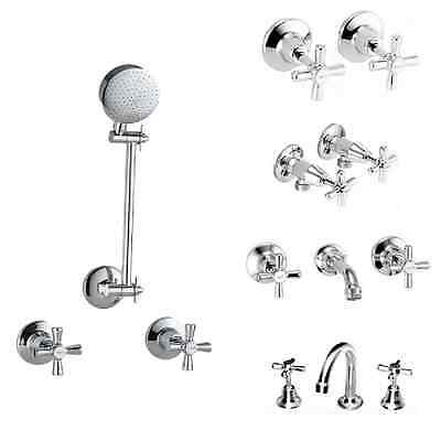 Novara Tapware Range - Basin, Bath, Washing Machine, Shower and Wall Taps Sets