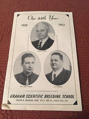 1948 Graham Scientific Breeding School booklet Breeding Troubles for cows