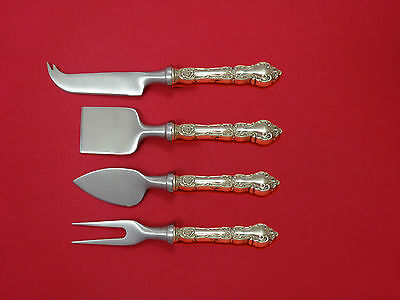 Meadow Rose by Wallace Sterling Silver Cheese Serving Set 4 Piece HHWS  Custom